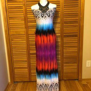 Venus Maxi Halter Dress Size Small